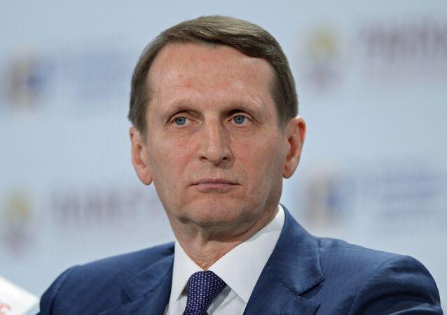 سيرغي ناريشكين رئيس الجمعية التاريخية الروسية