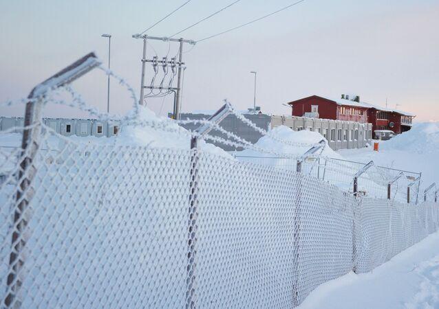 مخيم اللاجئين على الحدود الشمالية الروسية