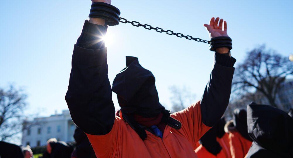 مظاهرة ضد سجن غوانتانامو