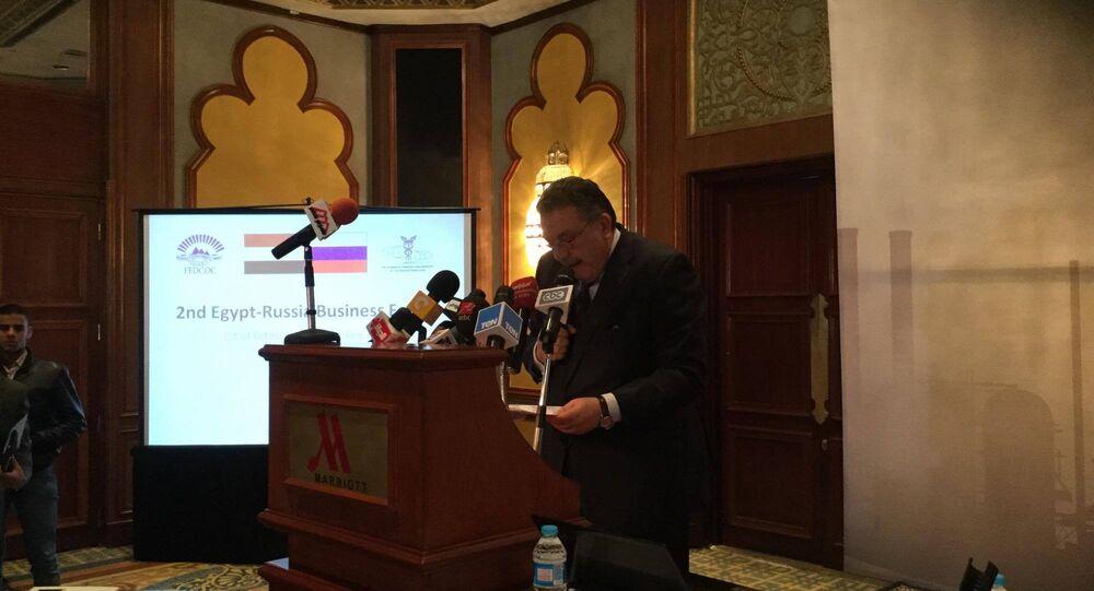 أحمد الوكيل ـ رئيس الجانب المصري في مجلس الأعمال الروسي ـ المصري