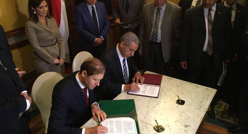 التوقيع على اانشاء المنطقة الصناعية الروسية في مصر