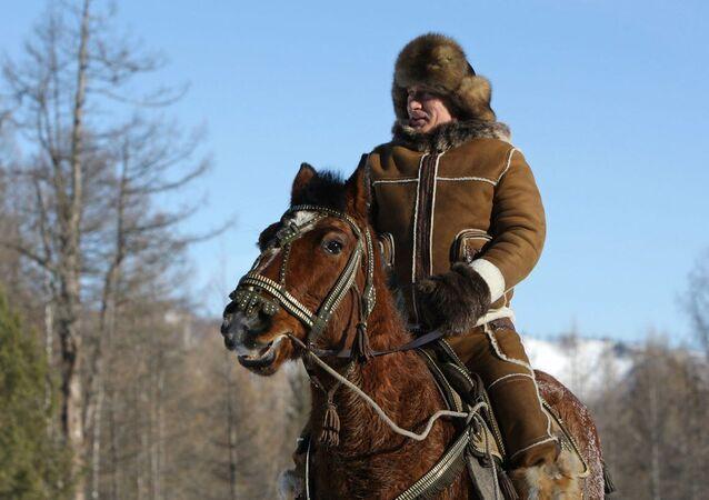 الرئيس الروسي فلاديمير بوتين خلال إجازته