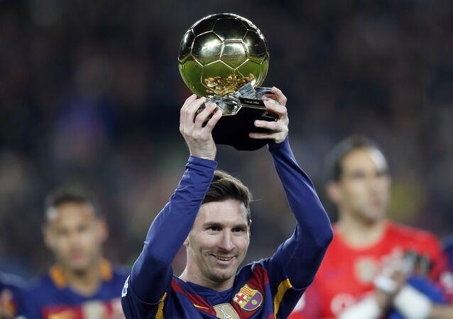 لاعب كرة القدم الأرجنتينى ليونيل ميسي