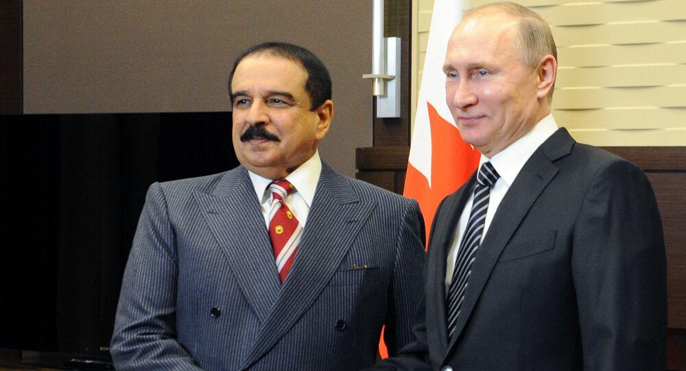 الرئيس الروسي مع ملك البحرين