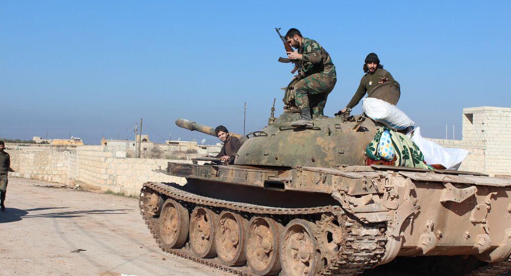 الجيش السوري بعد تحرير نبل والزهراء في ريف حلب