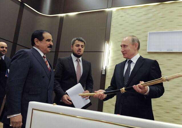فلاديمير بوتين و حمد بن عيسى آل خليفة