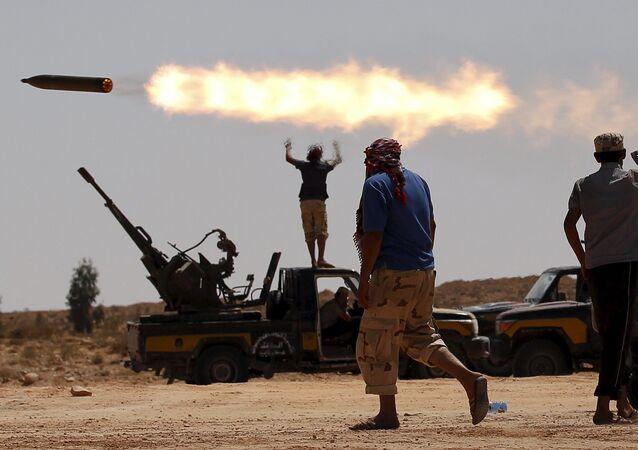 احتجاجات مناهضة للحكومة في مدينة سرت في ليبيا