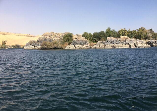 نهر النيل بمدينة أسوان