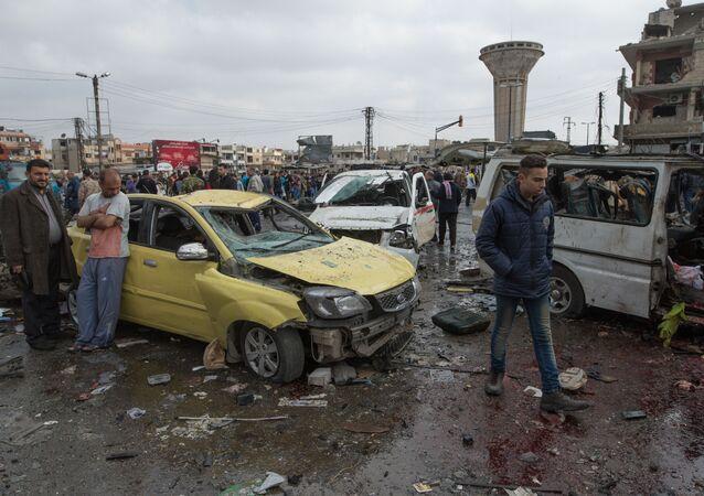 العمل الإرهابي في حمص