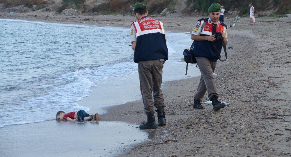 الطفل السوري الغريق آلان كردي
