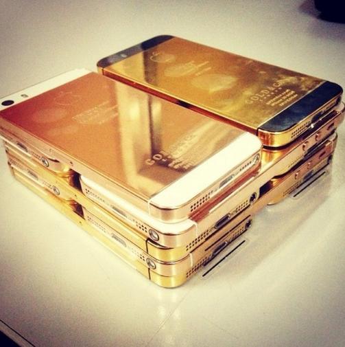 تليفونات من الذهب
