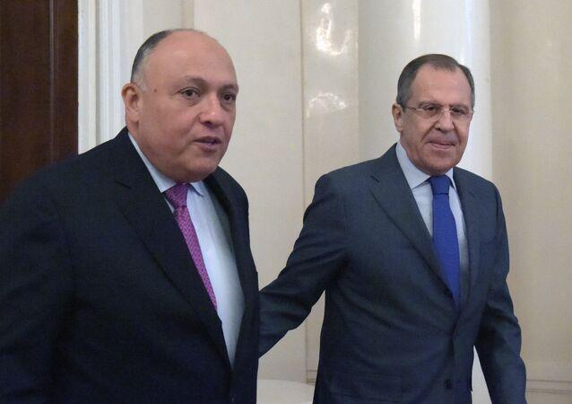 لقاء وزيري خارجية روسيا ومصر