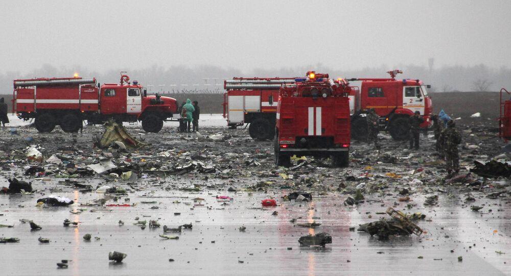 سقوط طائرة فلاي دبي جنوب روسيا
