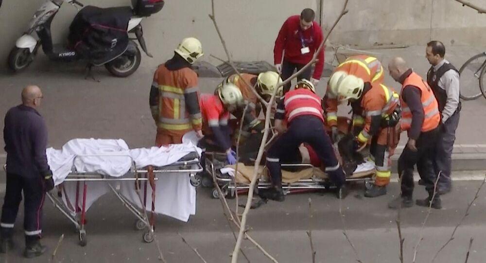 إجلاء ضحايا تفجير مترو بروكسل