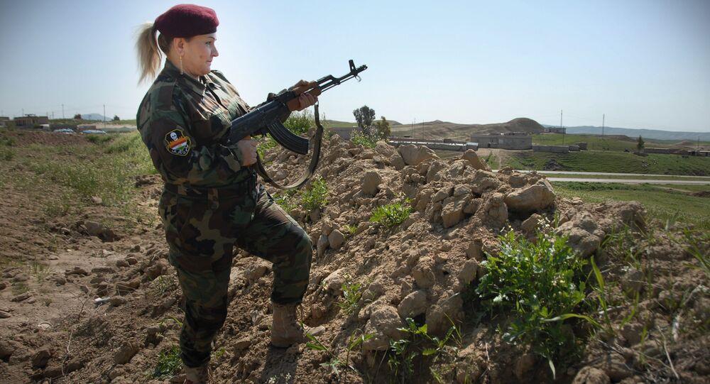 حسيبة آزاد قائدة كتيبة البشمركة النسائية