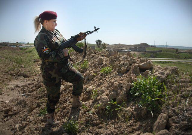 حسيبة آزاد قائدة كتيبة البشمرقة النسائية