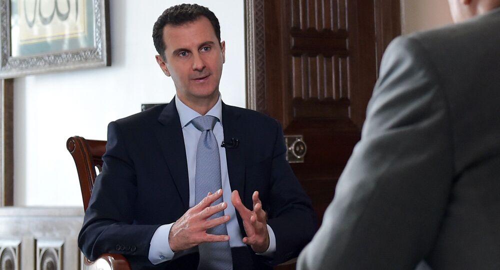 لقاء وكالة سبوتنيك مع الرئيس السوري بشار الأسد