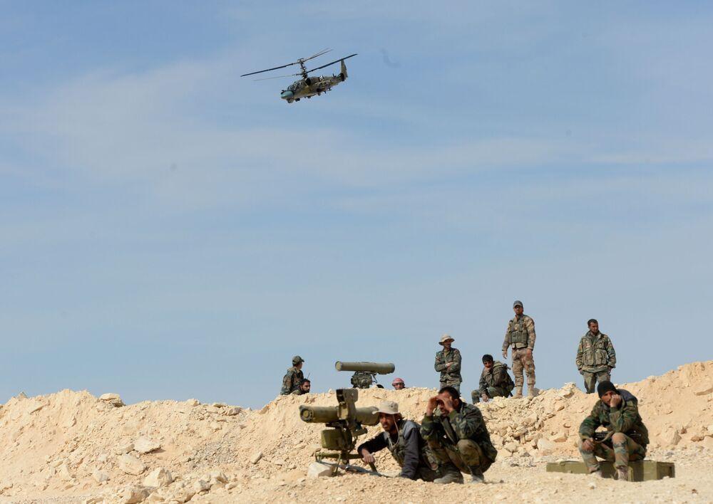 استخدام مروحية كا-52 في سوريا