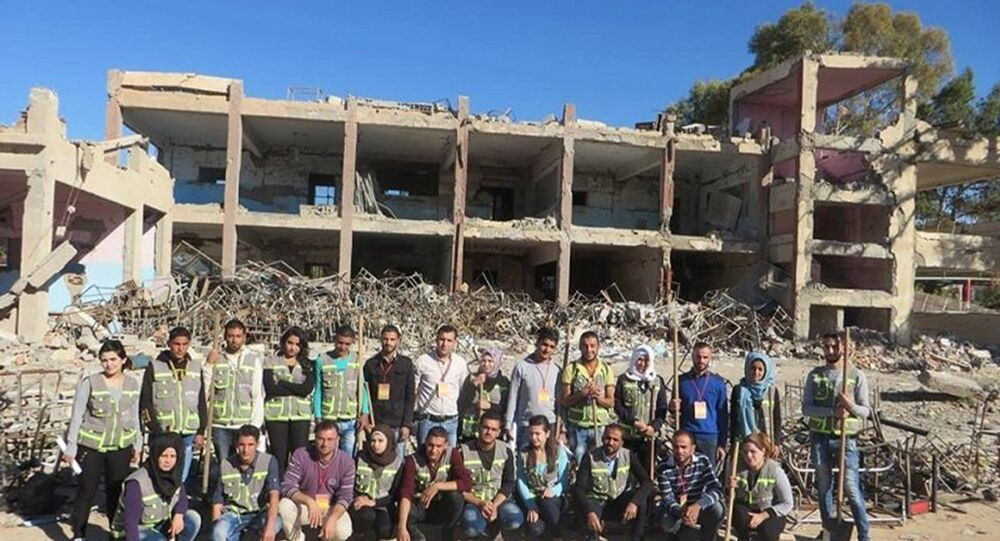 الشباب السوري يعزز السلام والمحبة في بلدهم المصاب