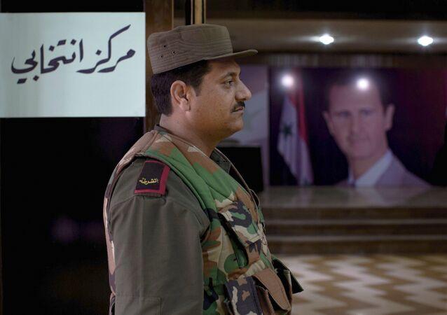 مركز انتخابي في سوريا