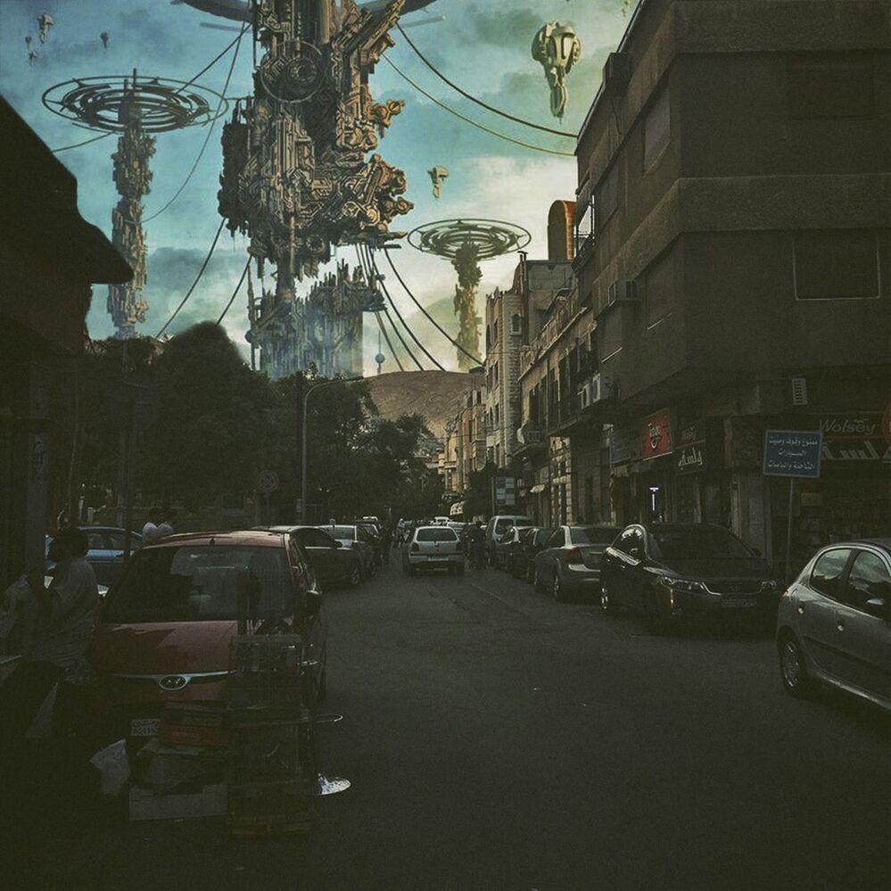 الفنان والمصور السوري أيهم جبر وعمله الفني دمشق تحت الحصار