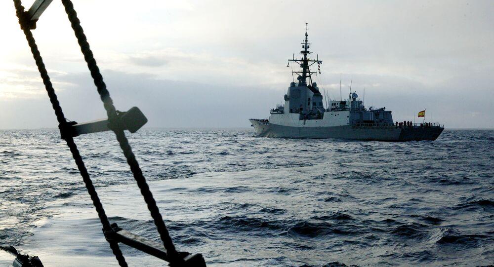 بارجة حربية لحلف شمال الأطلسي