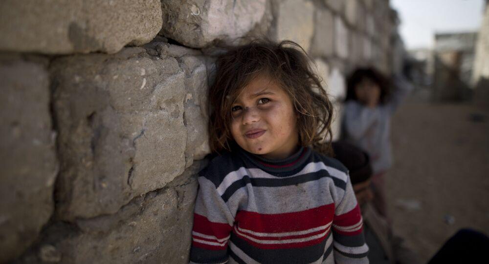 طفلة من قطاع غزة