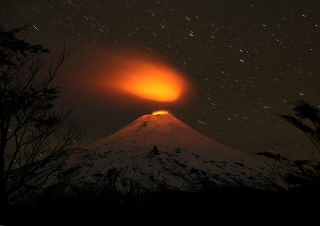 بركان فيلياريكا في تشيلي، 4 مايو/ آيار 2016.