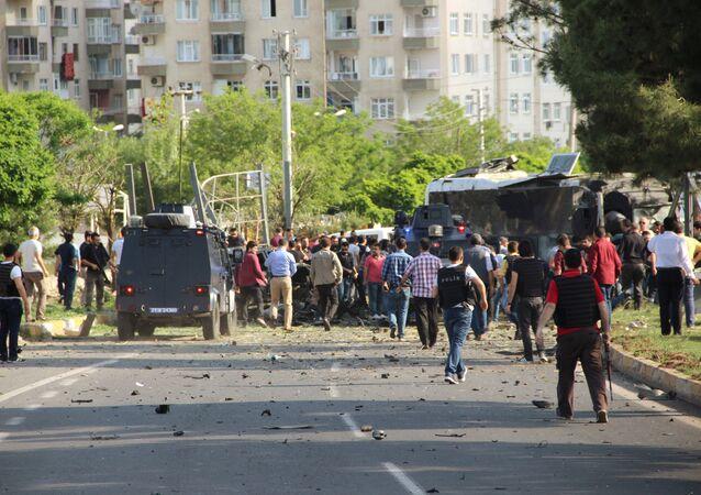 انفجار في ديار بكر التركية