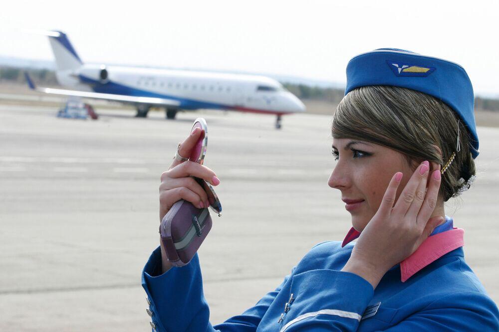 مضيفات شركة الطيران الروسية بوغولما في تاتارستان