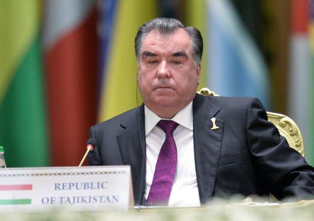 الرئيس الطاجيكي إمام علي رحمن