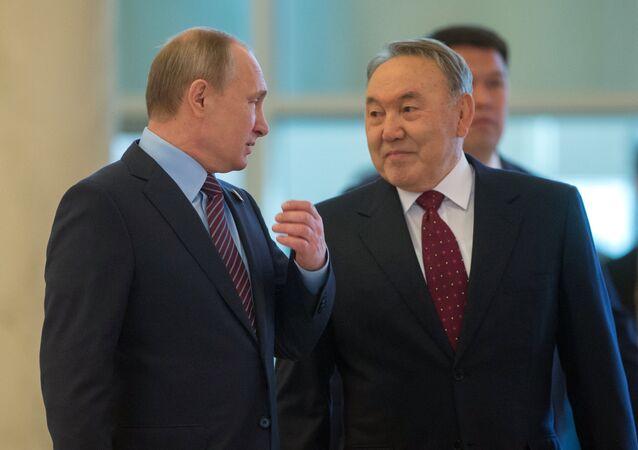 بوتين ونزاربايف