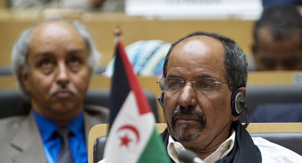 زعيم جبهة البوليساريو محمد عبد العزيز