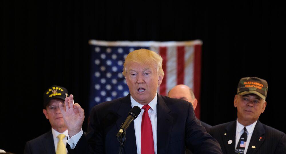 المرشح الرئاسي عن الحزب الجمهوري دونالد ترامب