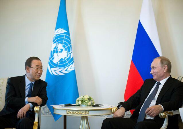 بوتين وبان كي مون