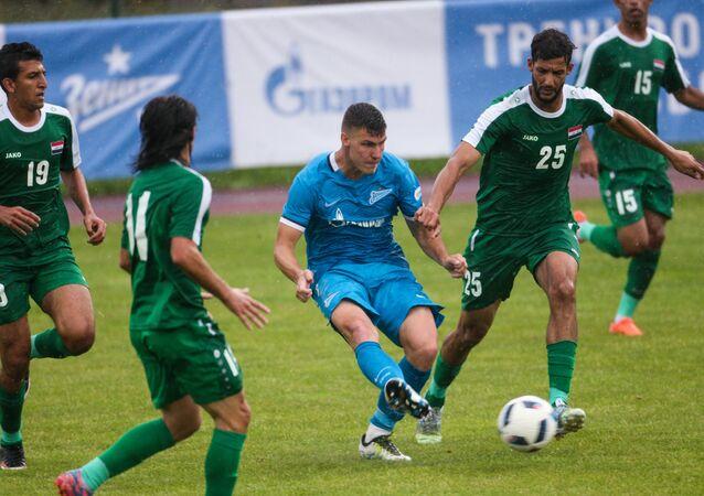 نادي زينيت الروسي مع المنتخب الأولمبي العراقي