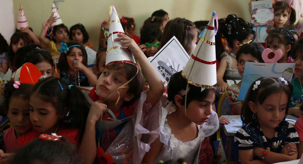 تلاميذ المدارس فى سوريا