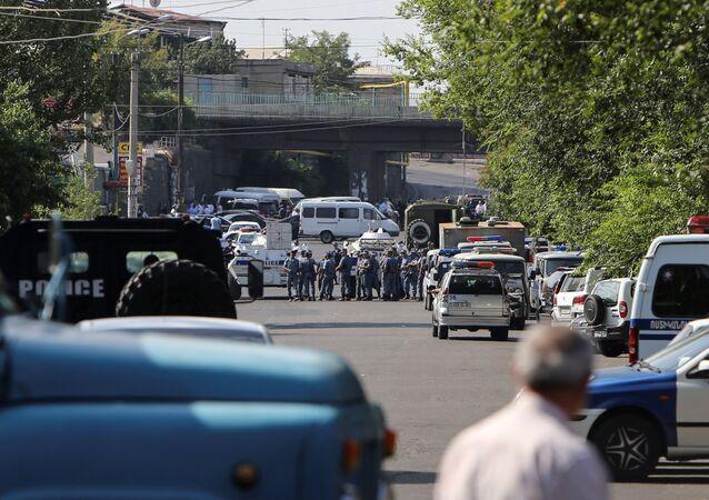 الشرطة في يريفان، عاصمة أرمينيا