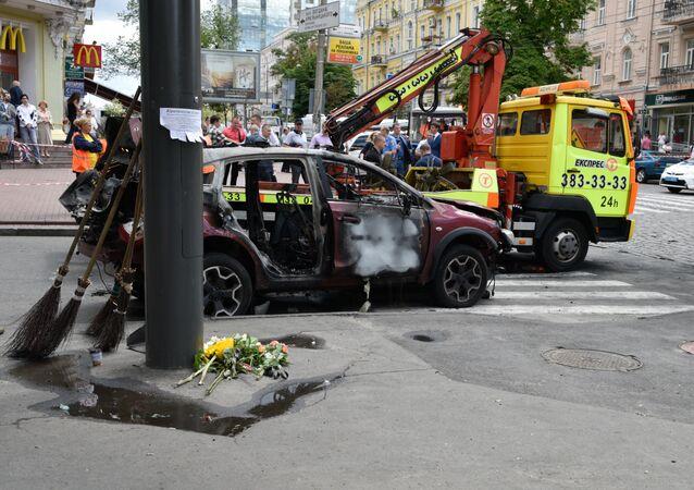 تفجير سيارة الإعلامي الروسي بافل شيريميت