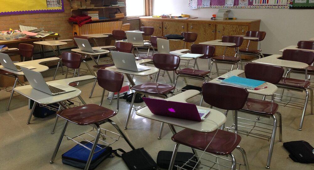 قاعة دراسية في مدرسة