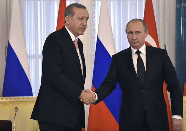 لقاء بوتين وأردوغان في سانت بطرسبورغ