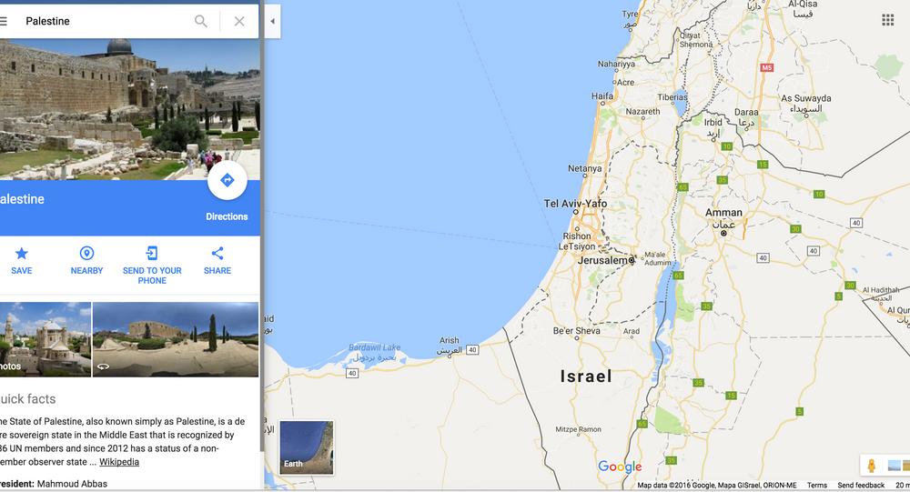 غوغل تلغي فلسطين من خرائطها صور فيديو Sputnik Arabic