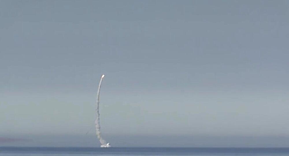 انطلاق صواريخ كاليبر الروسية