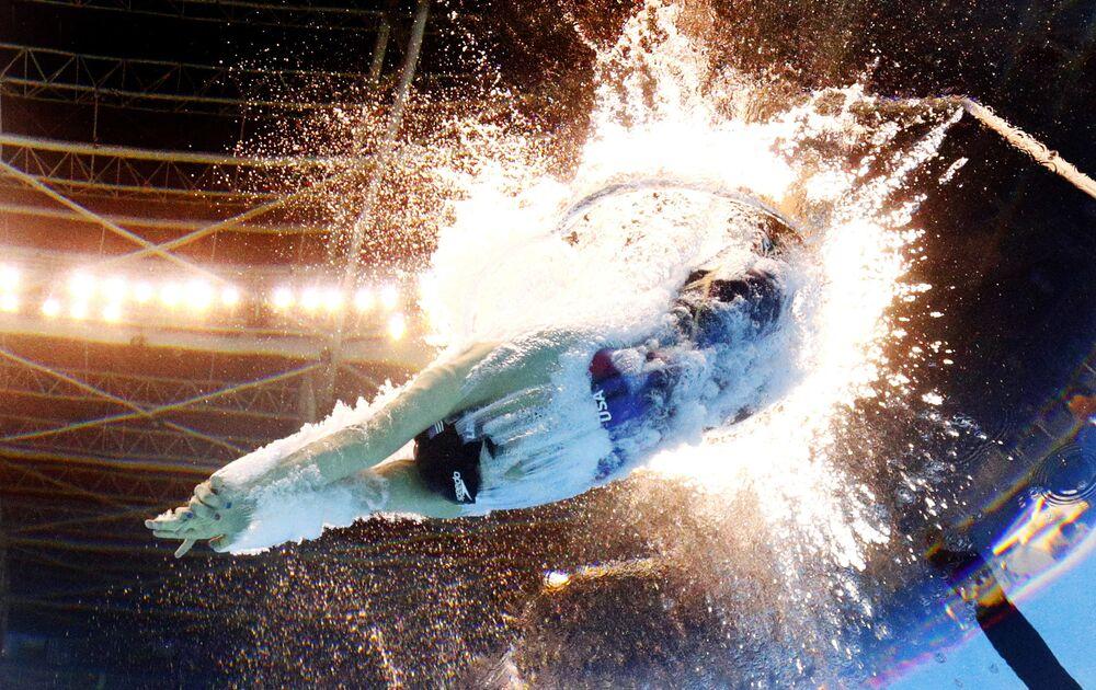 السبّاحة الأمريكية كيتي ليديكي في أولمبياد ريو 2016، 8 أغسطس/ آب 2016