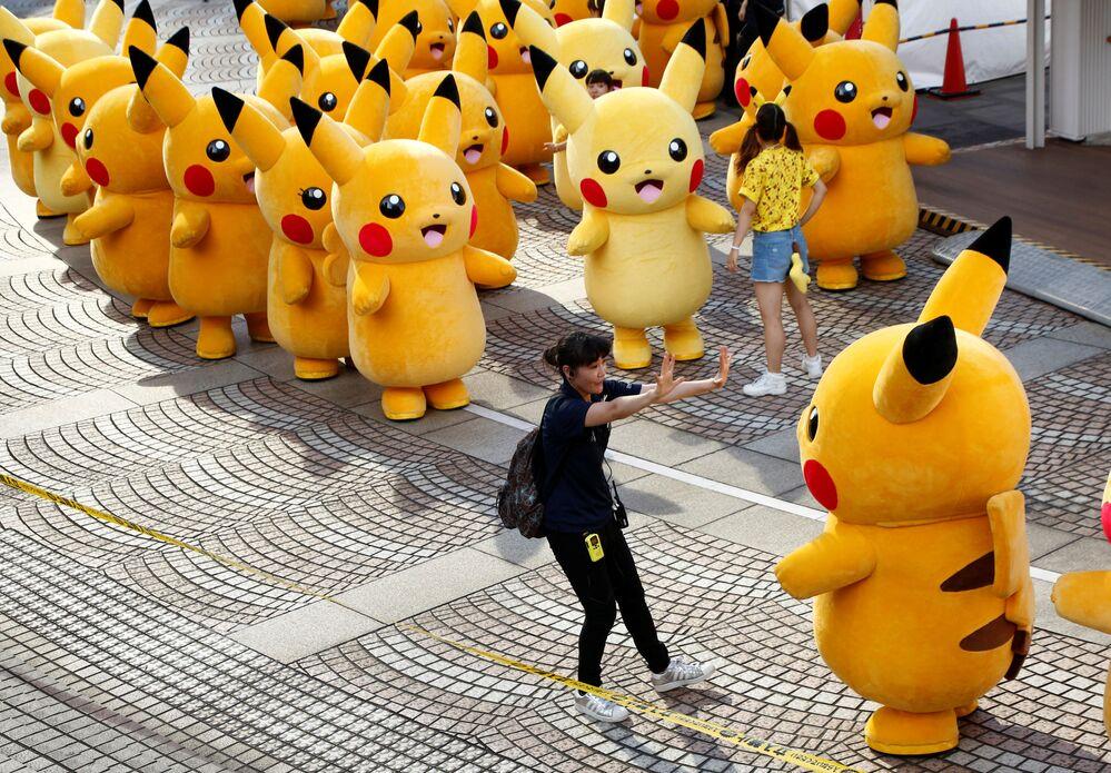 العرض البوكيموني - بيكاتشو في مدينة يوكوهاما، اليايان 7 أغسطس/ آب 2016