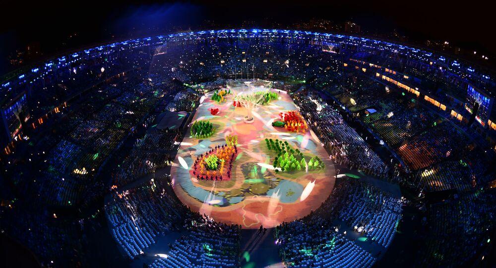 وداعاً ريو 2016 - استاد ماراكانا خلال مراسم انتهاء الألعاب الأولمبية الصيفية الـ 31 في ريو دي جانيرو، 21 أغسطس/ آب 2016
