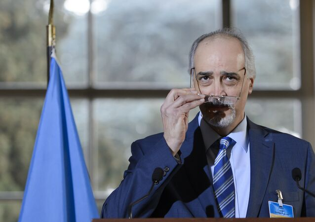 المندوب السوري في الأمم المتحدة بشار الجعفري