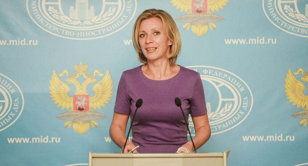 الممثل الرسمي لوزارة الخارجية الروسية، ماريا زاخاروفا