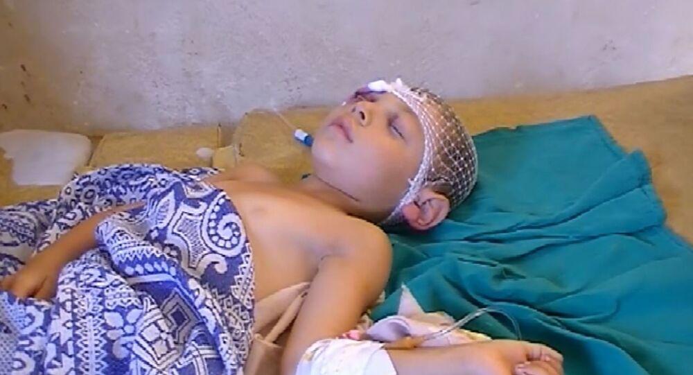 الطفلان الأخوان ليث ومحمد في مدينة الفوعة ضحية الإرهاب