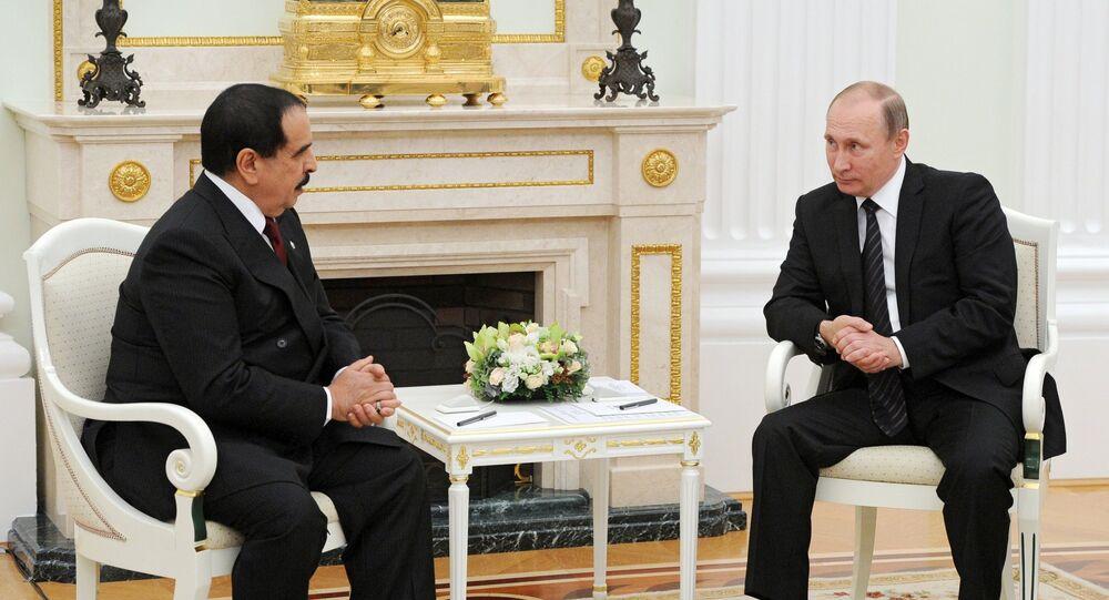 الرئيس الروسي فلاديمير بوتين والعاهل البحريني الملك حمد بن عيسى آل خليفة
